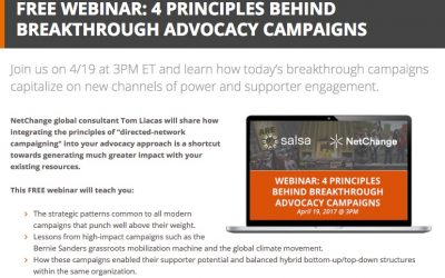 Spreading the Networked Change campaigning model with new partner Salsa