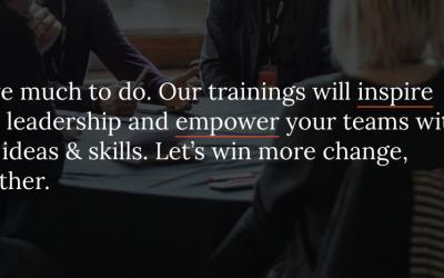 Training to win big change